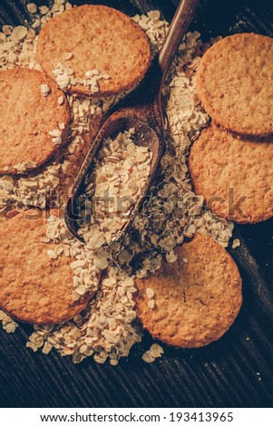 Oatmeal cookie-Filtered Image