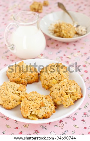 Oatmeal cookies - stock photo