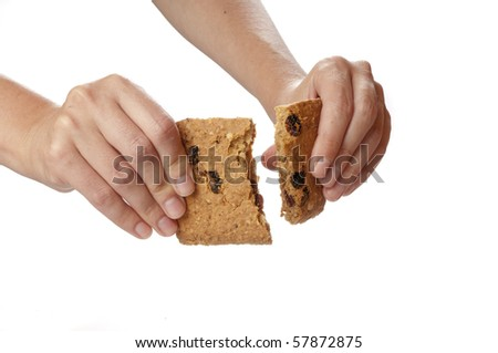Oatmeal cookies in the woman hands