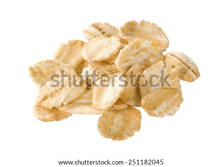oatmeal, oat flakes isolated