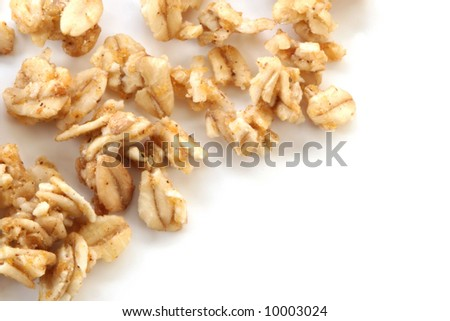 Oatmeal on white - stock photo