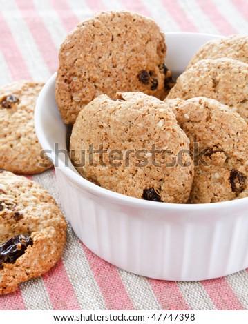 Oatmeal Raisin Cookies - stock photo