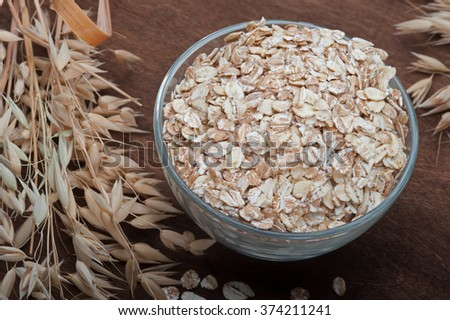 oatmeal with ears of oats