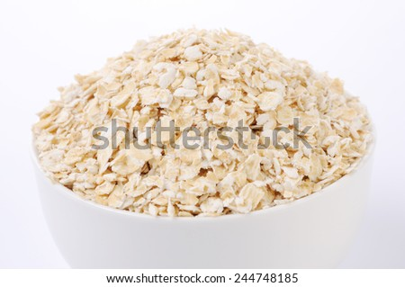 Oats in bow - stock photo