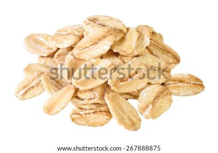 oats isolated - stock photo