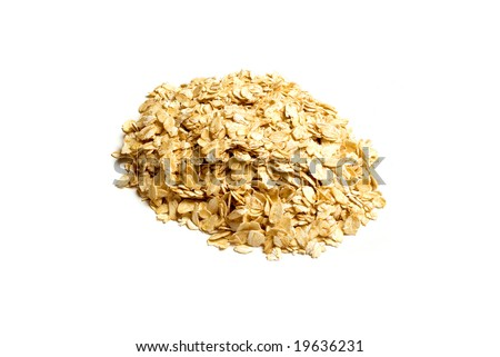 Oats isolated on white background - stock photo