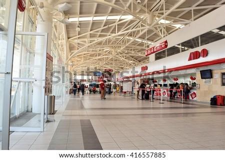 Oaxaca Mexico - 02/05/2016 - Bus terminal  - stock photo