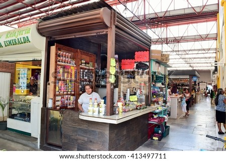 Oaxaca Mexico - 29/04/2016 - La Merced market at Oaxaca Mexico - stock photo