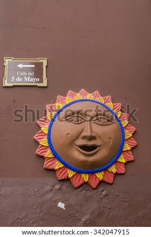 OAXACA , MEXICO - NOV 02 : Architectural details in Oaxaca Mexico on November 02 2015. Oaxaca, is the capital and largest city of the Mexican state of the same name. - stock photo