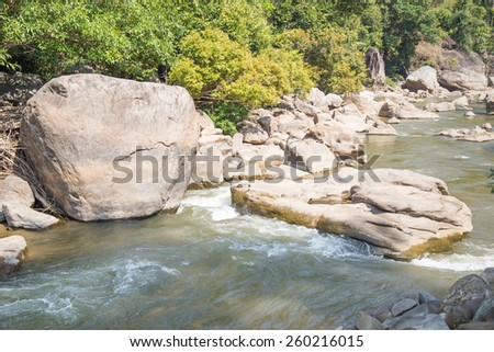 Ob Luang National Park beautiful in Thailand Province Chiang Mai - stock photo