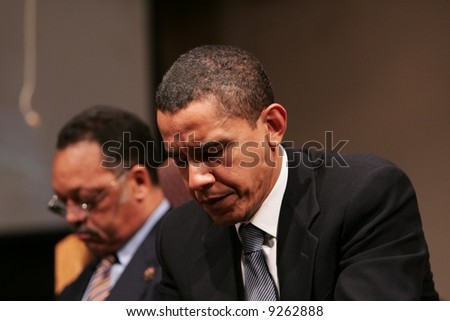 Obama in thaught - stock photo