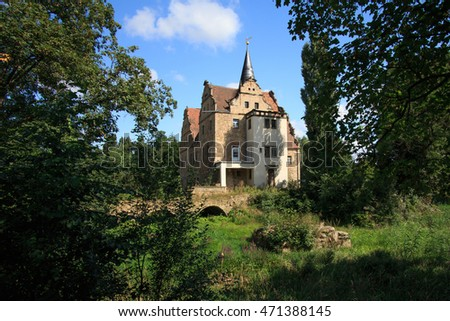 OBERAU CASTLE, Germany near Meissen