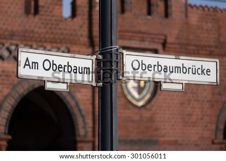 oberbaum bridge in berlin germany