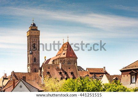 Obere Pfarre church in Bamberg (Franconia, Germany) - stock photo