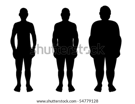 obesity and men - stock photo