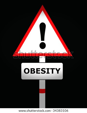 obesity warning sign - stock photo