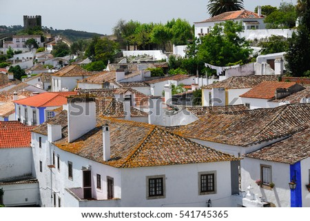 Obidos, a small town in Portugal