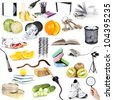 Object collection isolated on white - stock photo
