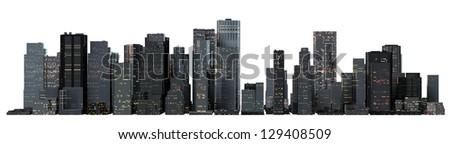 Object 3d City landscape. - stock photo