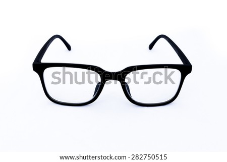 Object eyeglasses isolated on the white.