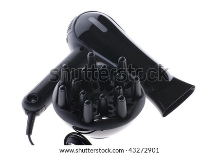object isolated on white background Hair dryer