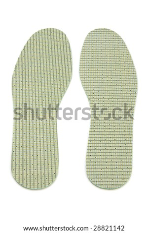 object on white - clothes insole shoe