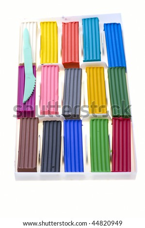 Paint A Clay Object Rainbow Colors
