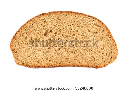 object on white - food black bread