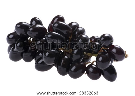 object on white - food grapes close up