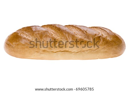 object on white - food white bread