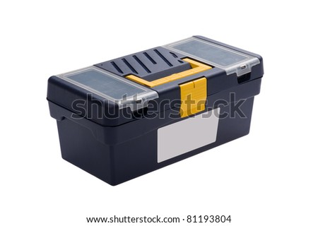 object on white - isolated plastic tool box