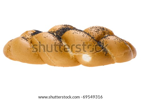 object on white - loaf with poppy seeds