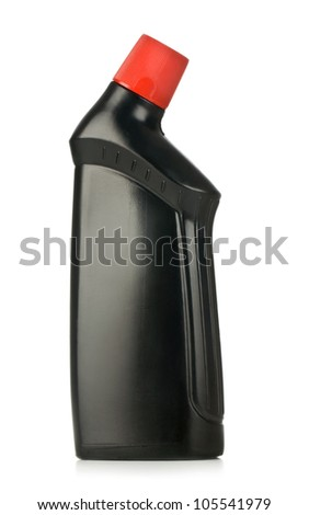 object on white - plastic bottle close up