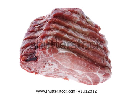 object on white - raw Cutting pork