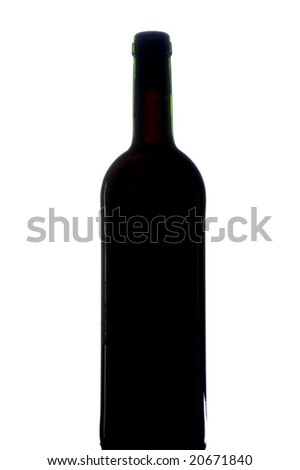 object on white - Red wine bottle