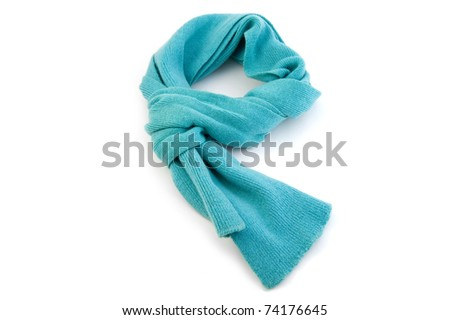 object on white - Scarf close up - stock photo