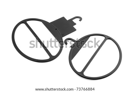 object on white - Scarf hanger close up - stock photo
