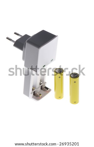 object on white - tool - battery charger