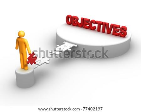 Objectives. - stock photo