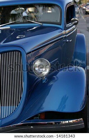 Objects at vintage car show - stock photo