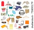 objects collection isolated on white - stock photo