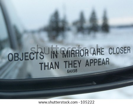 Objects in Mirror - stock photo