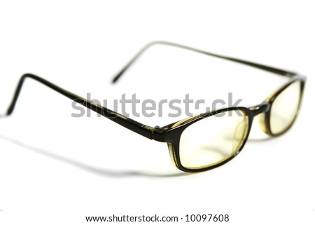 Objects. Photograph of glasses on withe background - stock photo