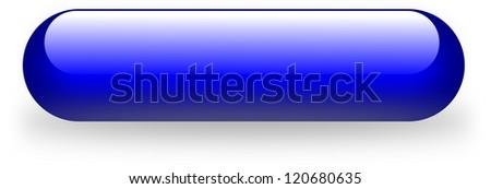 Oblonged blue magenta button isolated lozenge shaped - stock photo