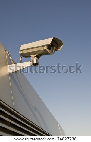 observation camera - stock photo