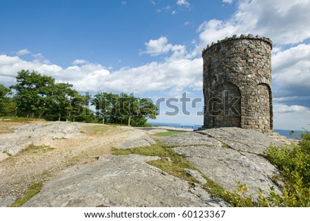 Observation tower in Camden Hills state park, Maine