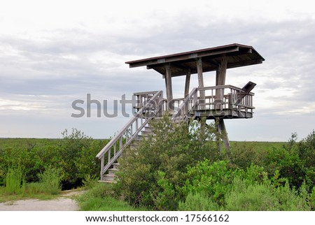 Observation Tower on Wildlife Drive, Merritt Island NWR - stock photo