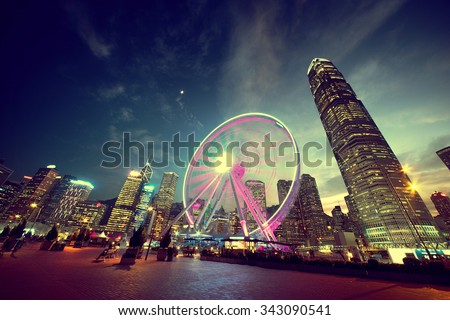 Observation Wheel, Hong Kong  - stock photo