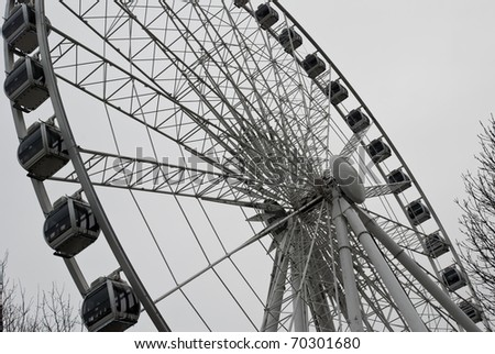 Observation wheel in Hyde Park, London, England - stock photo