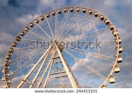 Observation wheel near the beach in Rimini, Italy - stock photo